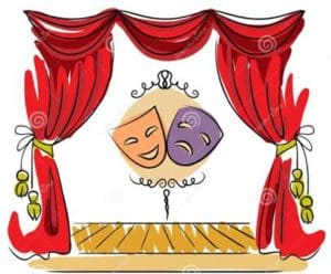 http://www.dreamstime.com/stock-image-theater-stage-vector-illustration-red-curtain-masks-image37459401